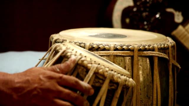 Hands Tuning Tabla: India video