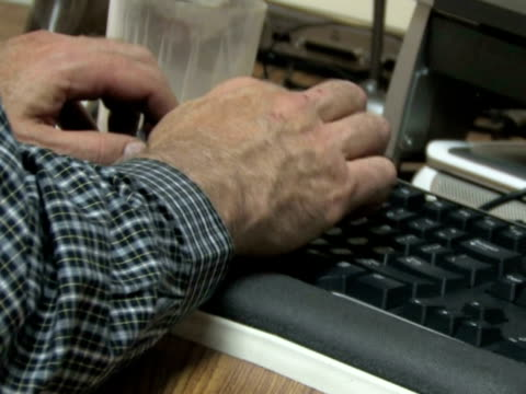Hands Typing At Desk 1 video