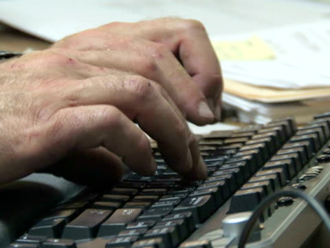 Hands Typing At Desk 3 video