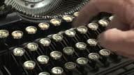 Hands Typing on Vintage Typewriter video