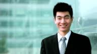 Handsome Businessman Smiling video