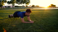 Handsome Mixed Race Man Doing a Fitness Plank video