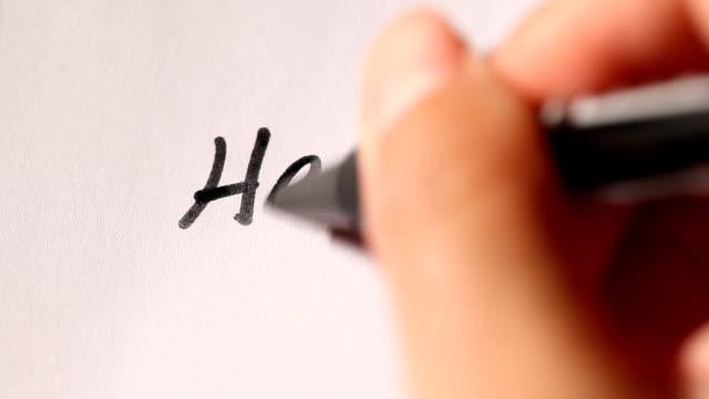 Handwriting of 'Hello !' video