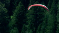 Hang Gliders  - Aerial View - Wyoming,  Teton County,  helicopter filming,  aerial video,  cineflex,  establishing shot,  United States video