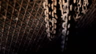 hanged metal chain with blur motion video