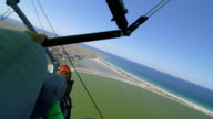 Hang-gliding over coast video