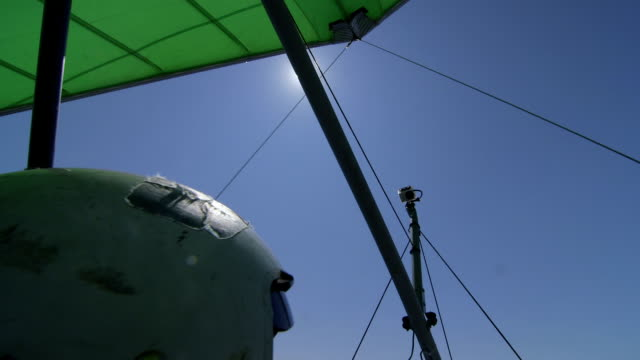 Hang-gliding over sea video