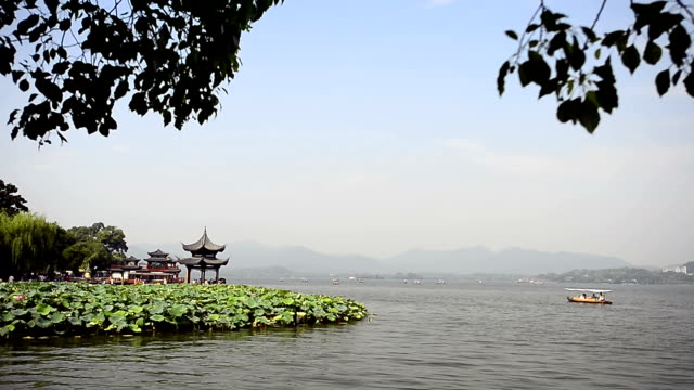 Hangzhou, China - Tourists in West Lake video