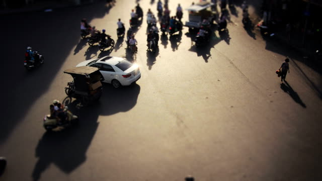Hanoi traffic timelapse. Vietnam HD 1080 video video