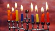 Hanukah candles celebrating the Jewish holiday Hanukkah celebration video