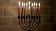 Hanukkah Candles, Jewish Holiday video