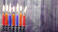 Hanukkah Candles, Jewish Holidays video