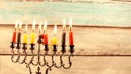 Hanukkah Candles symbol, tradition traditional video