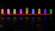 Hanukkah lights. video