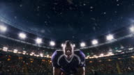 Happy American football player video