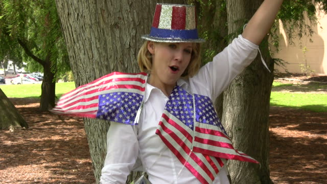 (HD1080i) Happy American / July 4th Party Girl video