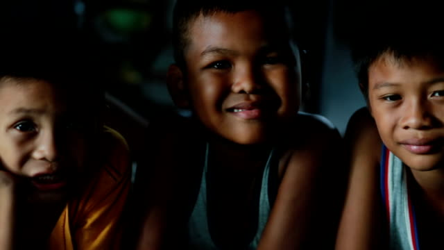 Happy asian boy, Slow motion video