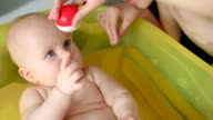 happy baby bathing video
