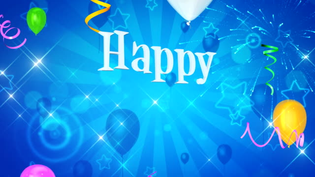 Happy birthday background video