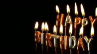Happy Birthday candles video