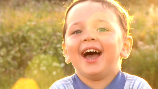 happy boy laughing video