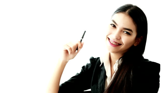 Happy Business Woman a smiling video