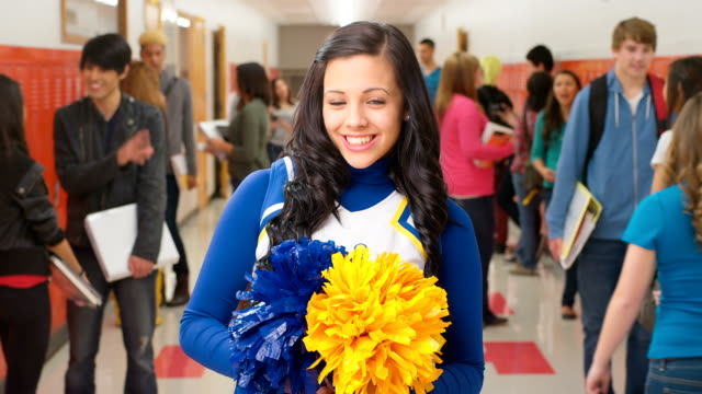 Happy cheerleader video