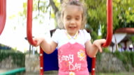 happy child swing video