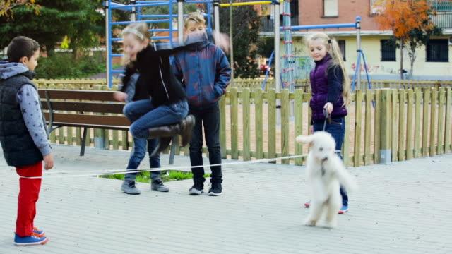 Happy children in yard video