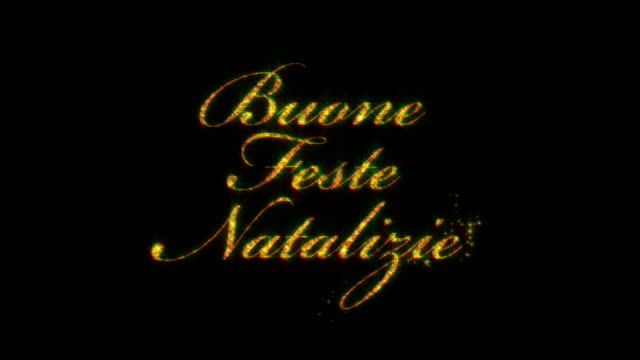 Buone Feste Natalizie: Merry Christmas in Italian, loopable from 8:00-12:00 video