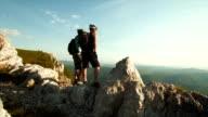 HD: Happy Couple At The Edge Of Ridge video