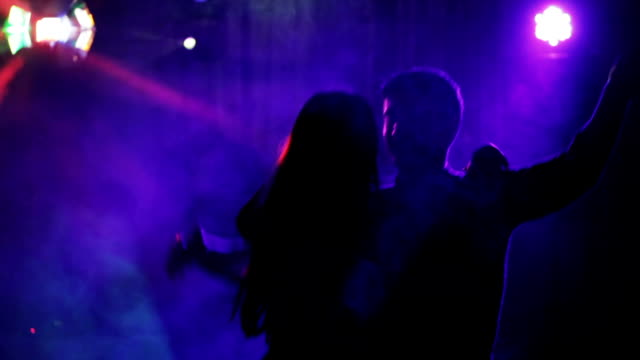 Happy Couple Dancing In a Nightclub video