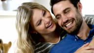 Happy couple having fun together video