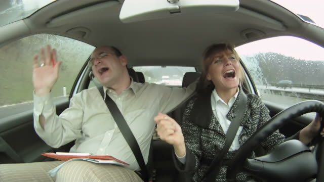HD: Happy Couple In The Car video