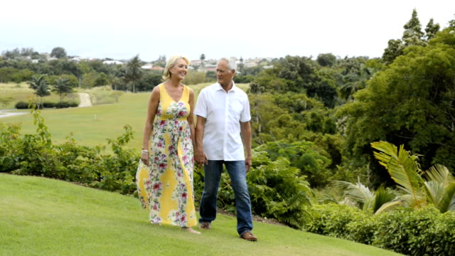 Happy couple in the garden video