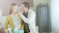 Happy couple in the kitchen video