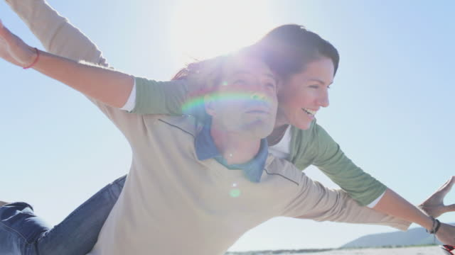 Happy Couple: pretending to fly video