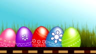 Happy Easter Eggs Footage video clip video
