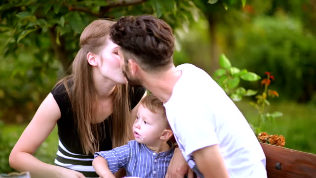Happy Family at Picnic video