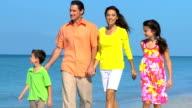 Happy Family Enjoying the Beach video