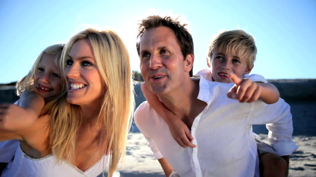 Happy Family Together on the Beach video