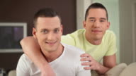 HD: Happy Gay Couple At Their Home video