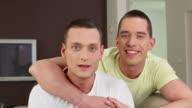 HD: Happy Gay Couple Talking At Camera video