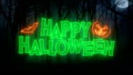 Happy Halloween Animation Loop/ Dark Forest Background video