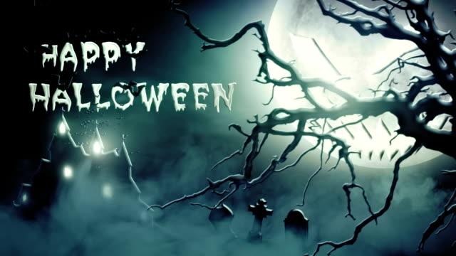 Happy Halloween (blue) - Loop video