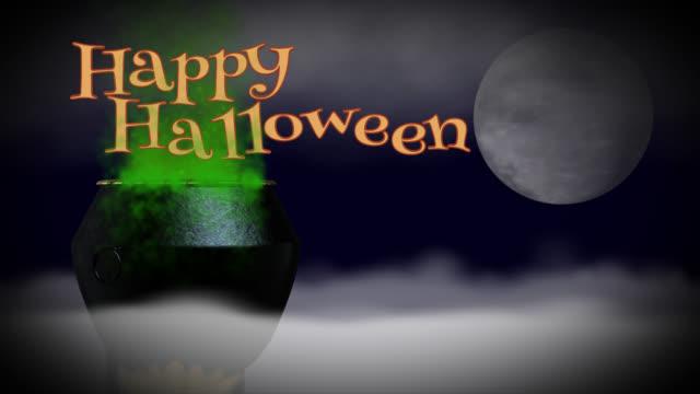 Happy Halloween seamless loop greeting video