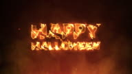 Happy Halloween Text on Fire video