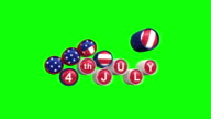 Happy Independence day with chroma key Background video
