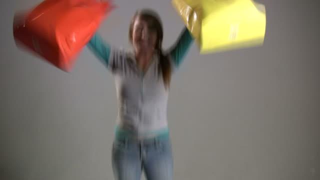 (HD1080i) Happy Jumping Shopper video