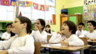 happy kids in classroom video